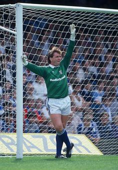 Ipswich Town goalkeeper Paul Cooper during the 1st Division match against Southampton at Portman Road August 31st 1985 Result 11 Retro Football, Football Shirts, Ipswich Town Fc, Goalkeeper, Southampton, Division, Kicks, Boys, Clock