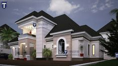 If you love spaciousness and modern living, here is a contemporary 5 bedroom plan that an established family will find a. House Plans Mansion, Luxury House Plans, Dream House Plans, Three Bedroom House Plan, Family House Plans, Home And Family, Bungalow House Design, Modern House Design, Architectural Design House Plans
