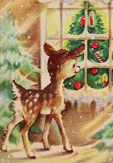 Kitschmas deer - cute #christmas # holidays