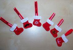 Cute Christmas Stockings banners/key-holders set  by artapli
