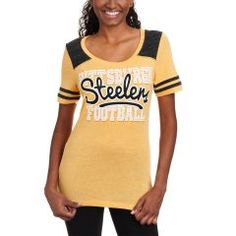 9efb1e23 Pittsburgh Steelers Women's Fifth and Ocean Glittering Football T-Shirt