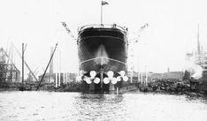 Lusitania: June 7, 1906: Launch of the Lusitania at John Brown & Company Ltd. Clydebank, Scotland.