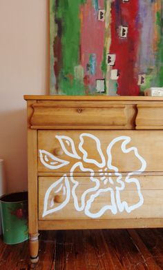 painted dresser on S