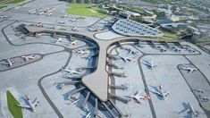 Aerial view of  Mumbai Airport