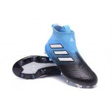 comercio botas de futbol adidas ace 17+ purecontrol fg azul blanco negro