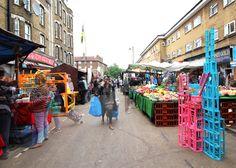University of Brighton students create folding market stalls in London