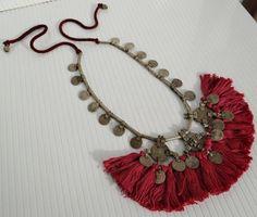 RARE Banjara Coins Heavy Vintage Tribal Tassels Gypsy Kuchi Necklace | eBay