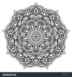 Mandala. Round Pattern Stock Vector Illustration 222727690 : Shutterstock