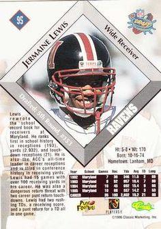 1996 Classic NFL Rookies #95 Jermaine Lewis Back