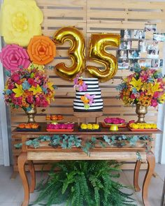 Super Birthday Themes For Adults Women Coloring Pages Ideas – Party Decorations 2020 35th Birthday, Adult Birthday Party, 30th Birthday Parties, Birthday Woman, Birthday Party Decorations, Aloha Party, 30th Party, Luau Party, Flamingo Party