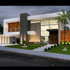 Ideas For House Facade Design Modern Architecture Arquitetura Modern House Plans, Modern House Design, Facade Design, Exterior Design, Villa Design, Modern Architecture House, Architecture Design, Landscape Architecture, Landscape Design