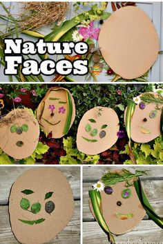 NATURE FACES - TODDLER ART WITH NATURAL MATERIALS