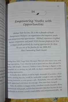 Wrote my 1st story for What's After SPM in Malaysia - One of the best-selling books for national school exam leavers in 2011
