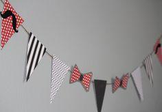 Little Mans Tie and Mustache Baby Shower Banner, Mustache Party, Birthday