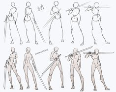 comic art Swordsman Poses Pack - my Patreon for ALL sketches and resources! Drawing reference resource practice human body anatomy tutorial male androgyne sword swordsman poses standing how to draw Body Reference Drawing, Drawing Body Poses, Anime Poses Reference, Human Figure Drawing, Guy Drawing, Anatomy Reference, Drawing People, Drawing Tips, Drawing Ideas
