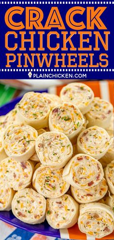 Crack Chicken Pinwheels – I am ADDICTED to these sandwiches! Cream cheese, chedd… Crack Chicken Pinwheels – I am ADDICTED to these sandwiches! Cream cheese, cheddar, bacon, ranch and chicken wrapped in a tortilla. So simple to make with rotisserie chicken Chicken Wraps, Crack Chicken, Chicken Salad, Chicken Bacon Ranch Wrap, Party Chicken, Roasted Chicken, Fried Chicken, Finger Food Appetizers, Vegetarian