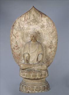 CHINE Bouddha Amitaba - Dynastie des Liao (907 – 1125) - Hebei - Marbre