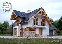 Проект дома LK&1130 с мансардой и гаражом