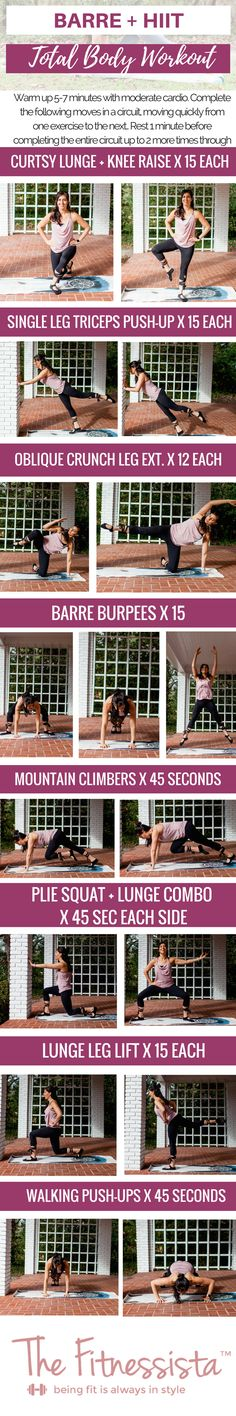 Barre HIIT workout (you can do anywhere)