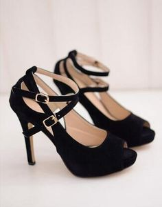 stylish black prom heels for women