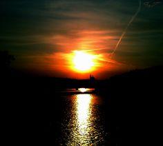 Bird In the Sunset Prague. Sony P.T.