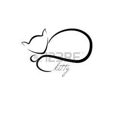 Vector hand drawn contour cagnotte Peut tre utilis comme un logo ou une ic ne Banque d'images