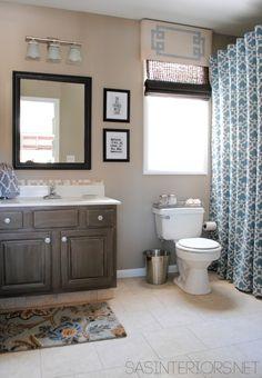Wall color - Master Bathroom: Benjamin Moore Kid Gloves