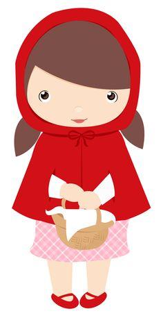 Little Red Riding Hood Template - ClipArt Best | roodkapje ...