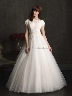 Shawna Totally Modest WEDDING dresses, PROM & Bridesmaid dresses w/ sleeves
