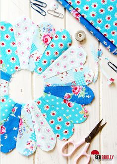 English Paper Piecing Tutorial - @ Red Brolly