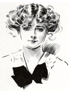charles dana gibson art - Google Search Vintage Illustration Art, Ink Illustrations, Charles Dana Gibson, Pretty Cats, Pretty Kitty, Gibson Girl, Sketch Inspiration, Black And White Drawing, Character Design References