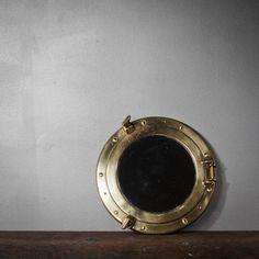 Italian Brass Porthole Mirror now featured on Fab.