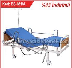 2 Motorlu Nikelaj Korkuluklu Hasta Karyolası