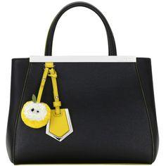 Fendi Petite 2Jour Bag ($2,250) ❤ liked on Polyvore featuring bags, handbags, fendi, black bags, black, real leather bags, leather handbags, fendi purses, fendi handbags and 100 leather handbags