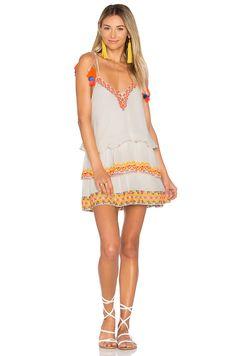 HEMANT AND NANDITA Short Dress in Neon