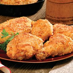 Fried chicken, I eat this once every month or so, but when I do I only eat it homemade and lots of it. Just so good.
