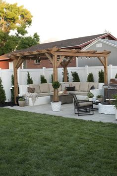 When all is finished, you can start to create a pergola, so it's prepared to delight in summer. A pergola may be an effortlessly stylish method to entertain and revel in your outdoor space without sacrificing your comfort or price… Continue Reading → Patio Pergola, Backyard Seating, Small Backyard Patio, Backyard Patio Designs, Pergola Kits, Diy Patio, Backyard Storage, Backyard Ideas For Small Yards, Corner Pergola