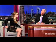Jennifer Lawrence (Katniss) on David Letterman. I was laughing out loud during the whole thing.