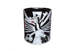 TIF8 PORTA PENNE LATTA BIANCO/NERI  TIF8 porta penne in latta con stampa del zebrotto nei colori bianco/nero.
