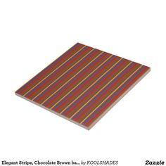 Elegant Stripe, Chocolate Brown base LOWPRICE GIFT Tile