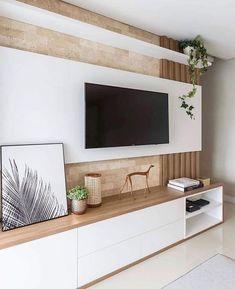 76 amazing tv wall design ideas for living room decor 64 Cozy Living Rooms, Living Room Modern, Home Living Room, Living Room Decor, Tv Stand Modern Design, Tv Stand Designs, Modern Tv Wall Units, Living Room Tv Unit Designs, Tv Wall Decor