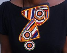 Maasai Beaded Statement Jewelry for the head-turners by AfricaZuri African Earrings, Tribal Earrings, African Beads, Tribal Jewelry, Elizabeth Taylor, Leather Necklace, Beaded Necklace, Necklaces, The One