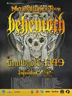 Metal Alliance Tour 2014 - Behemoth, Goatwhore, 1349, Inquisition, Black Crown Intiate