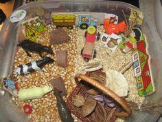sensory tubs of farm