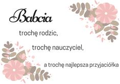 12 plakatów na Dzień Babci i Dziadka   Motheratorka Grandparents Day, Diy For Kids, Diy And Crafts, Sweet Home, Place Card Holders, Printables, Weekend Humor, Home Decor, Clever