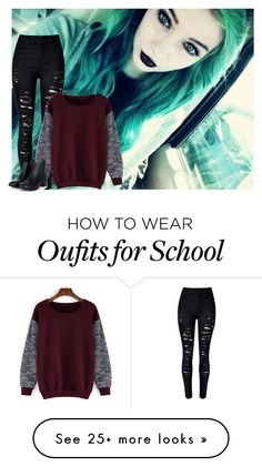 """""""School, i guess -Halo"""" by littlemissbent on Polyvore featuring women's clothing, women, female, woman, misses and juniors"""