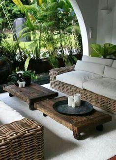 Tropical-chic Deign…outdoor seating – outdoor living - Home Decoraiton Outdoor Areas, Outdoor Seating, Outdoor Rooms, Outdoor Living, Outdoor Patios, Garden Seating, Outdoor Kitchens, Outdoor Lounge, Garden Sofa