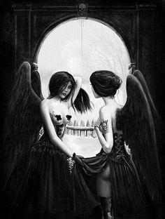 Fallen Angels Optical Illusion Art