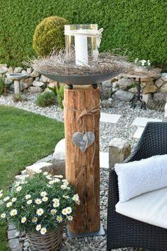 Garden Nook, Garden Deco, Garden Art, Back Gardens, Small Gardens, Sleepers In Garden, Back Garden Design, Pallet Patio Furniture, Wedding Props