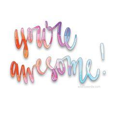 #reminder #youreawesome #positivephrases #kindwords #support #handlettering #brushlettering #moderncalligraphy #bouncylettering #handmadefont #typography #procreatelettering #handletteringpractice #wildflowerdw